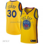 NBA Basketball Trøje Børn Golden State Warriors 2018 Stephen Curry 30# City Edition..