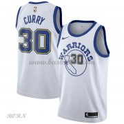 NBA Basketball Trøje Børn Golden State Warriors 2018 Stephen Curry 30# Hvid Hardwood Classics..