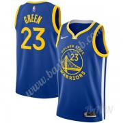 Billige Basketball Trøje Børn Golden State Warriors 2019-20 Draymond Green 23# Blå Icon Edition Swin..
