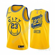 Billige Basketball Trøje Børn Golden State Warriors 2019-20 Draymond Green 23# Gul Classics Edition ..