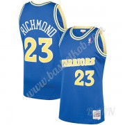 Billige Basketball Trøje Børn Golden State Warriors 1990-91 Mitch Richmond 23# Blå Hardwood Classics..