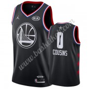 Golden State Warriors 2019 Demarcus Cousins 0# Sort All Star Game Swingman Basketball Trøjer..