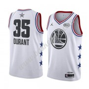 Golden State Warriors 2019 Kevin Durant 35# Hvid All Star Game Swingman Basketball Trøjer..