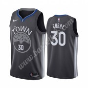 Golden State Warriors Basketball Trøjer NBA 2019-20 Stephen Curry 30# Sort City Edition Swingman..
