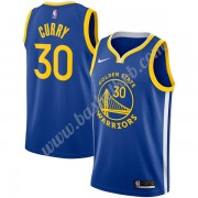 Golden State Warriors Basketball Trøjer NBA 2019-20 Stephen Curry 30# Blå Icon Edition Swingman..