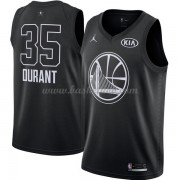 Golden State Warriors Kevin Durant 35# Sort 2018 All Star Game Swingman Basketball Trøjer..