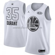 Golden State Warriors Kevin Durant 35# Hvid 2018 All Star Game Swingman Basketball Trøjer..