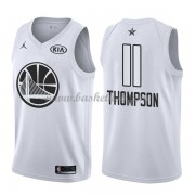 Golden State Warriors Klay Thompson 11# Hvid 2018 All Star Game Swingman Basketball Trøjer..