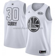 Golden State Warriors Stephen Curry 30# Hvid 2018 All Star Game Swingman Basketball Trøjer..