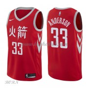 NBA Basketball Trøje Børn Houston Rockets 2018 Ryan Anderson 33# City Edition..