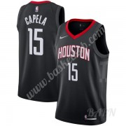 Billige Basketball Trøje Børn Houston Rockets 2019-20 Clint Capela 15# Sort Statement Edition Swingm..