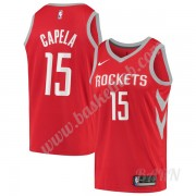 Billige Basketball Trøje Børn Houston Rockets 2019-20 Clint Capela 15# Rød Icon Edition Swingman..