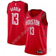 Billige Basketball Trøje Børn Houston Rockets 2019-20 James Harden 13# Rød Earned Edition Swingman..
