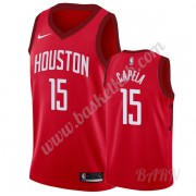 Billige Basketball Trøje Børn Houston Rockets 2019-20 Clint Capela 15# Rød Earned Edition Swingman..