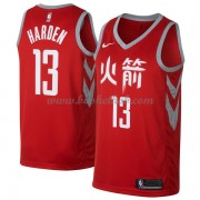 Houston Rockets Basketball Trøjer 2018 James Harden 13# City Edition..