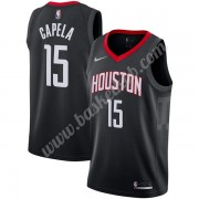 Houston Rockets Basketball Trøjer NBA 2019-20 Clint Capela 15# Sort Statement Edition Swingman..