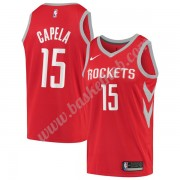 Houston Rockets Basketball Trøjer NBA 2019-20 Clint Capela 15# Rød Icon Edition Swingman..