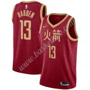 Houston Rockets Basketball Trøjer NBA 2019-20 James Harden 13# Rød City Edition Swingman..