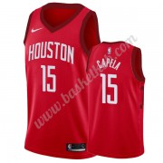 Houston Rockets Basketball Trøjer NBA 2019-20 Clint Capela 15# Rød Earned Edition Swingman..