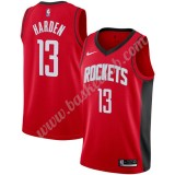 Houston Rockets Basketball Trøjer NBA 2019-20 James Harden 13# Rød Icon Edition Swingman