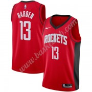 Houston Rockets Basketball Trøjer NBA 2019-20 James Harden 13# Rød Icon Edition Swingman..