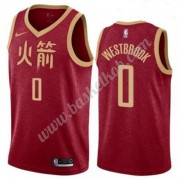 Houston Rockets Basketball Trøjer NBA 2019-20 Russell Westbrook 0# Rød City Edition Swingman..