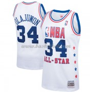 Houston Rockets Hakeem Olajuwon 34# Hvid 1989 All Star Hardwood Classics Swingman Basketball Trøjer..