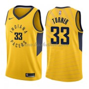 Indiana Pacers Basketball Trøjer 2018 Myles Turner 33# Statement Edition..