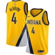 Indiana Pacers Basketball Trøjer NBA 2019-20 Victor Oladipo 4# Guld Finished Statement Edition Swing..