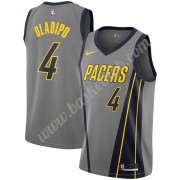Indiana Pacers Basketball Trøjer NBA 2019-20 Victor Oladipo 4# Grå City Edition Swingman..