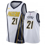 Indiana Pacers Basketball Trøjer NBA 2019-20 Thaddeus Young 21# Hvid Earned Edition Swingman..