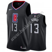 Los Angeles Clippers Basketball Trøjer NBA 2019-20 Paul George 13# Sort Statement Edition Swingman..