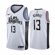 Los Angeles Clippers Basketball Trøjer NBA 2019-20 Paul George 13# Hvid City Edition Swingman..