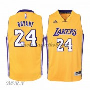 Los Angeles Lakers Børn NBA Trøjer 2015-16  Kobe Bryant 24# Gold Home Swingman..