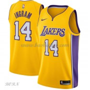 NBA Basketball Trøje Børn Los Angeles Lakers 2018 Brandon Ingram 14# Icon Edition..