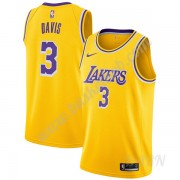Billige Basketball Trøje Børn Los Angeles Lakers 2019-20 Anthony Davis 3# Guld Icon Edition Swingman