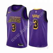Billige Basketball Trøje Børn Los Angeles Lakers 2019-20 Anthony Davis 3# Lilla City Edition Swingma..