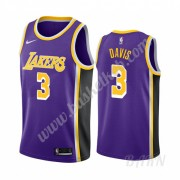Billige Basketball Trøje Børn Los Angeles Lakers 2019-20 Anthony Davis 3# Lilla Statement Edition Sw..