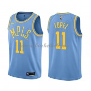 Los Angeles Lakers Basketball Trøjer 2018 Brook Lopez 11# Light Blue Hardwood Classics..