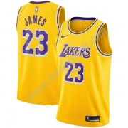 Los Angeles Lakers Basketball Trøjer NBA 2019-20 LeBron James 23# Guld Icon Edition Swingman..