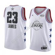 Los Angeles Lakers 2019 Lebron James 23# Hvid All Star Game Swingman Basketball Trøjer..