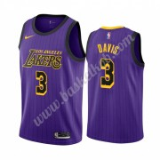 Los Angeles Lakers Basketball Trøjer NBA 2019-20 Anthony Davis 3# Lilla City Edition Swingman..
