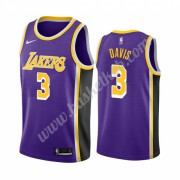 Los Angeles Lakers Basketball Trøjer NBA 2019-20 Anthony Davis 3# Lilla Statement Edition Swingman..