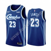 Los Angeles Lakers Basketball Trøjer NBA 2019-20 LeBron James 23# Blå Classics Edition Swingman..