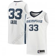 Memphis Grizzlies Basketball Trøjer 2018 Marc Gasol 33# Association Edition..