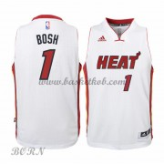 NBA Basketball Trøje Børn Miami Heat 2015-16 Chris Bosh 1# Home..
