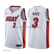 NBA Basketball Trøje Børn Miami Heat 2018 Dwyane Wade 3# Association Edition..