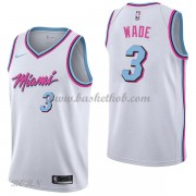 NBA Basketball Trøje Børn Miami Heat 2018 Dwyane Wade 3# City Edition..