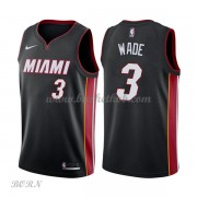 NBA Basketball Trøje Børn Miami Heat 2018 Dwyane Wade 3# Icon Edition..