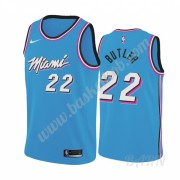 Billige Basketball Trøje Børn Miami Heat 2019-20 Jimmy Butler 22# Blå City Edition Swingman..